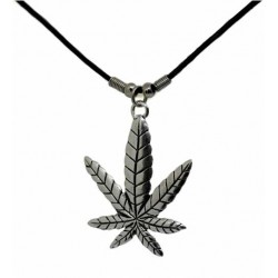 Halskette - Cannabis ( Zinn )