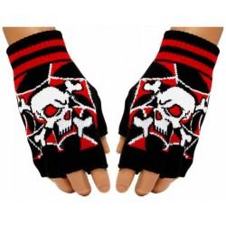 Fingerlose Handschuhe ( Rot...