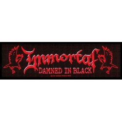 Immortal - Damned in Black logo stripe ( Aufnäher ca. 6,5 x 18,5 cm )
