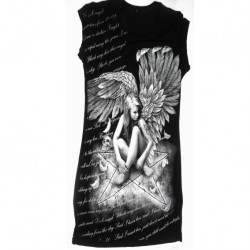 Kleid - Angel With Text